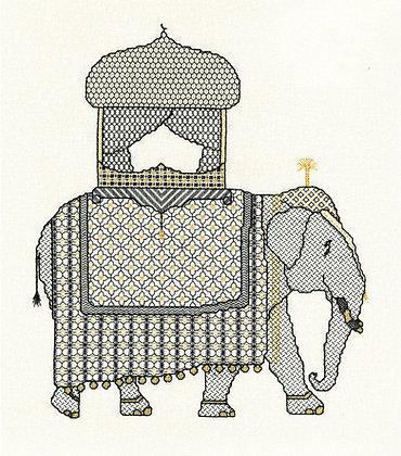 Blackwork Elephant