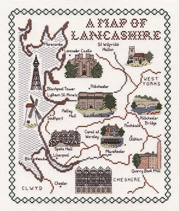 A Map of Lancashire