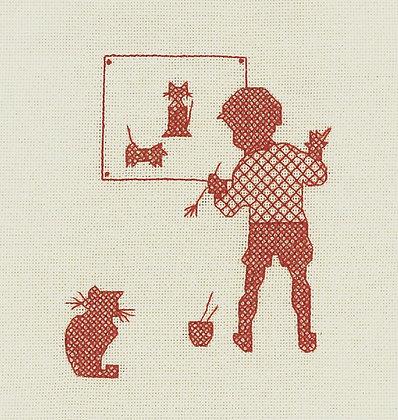 Nursery Nostalgia - Sit Stll Boy - red