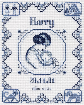 Sleepyhead Birth Sampler - Blue