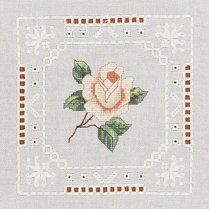 Hardanger Peach Rose