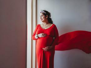 A virtual maternity photoshoot