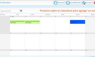 Con GN3 Asistencia podrá consultar las incidencias de cada empleado y sus horarios en un calendario