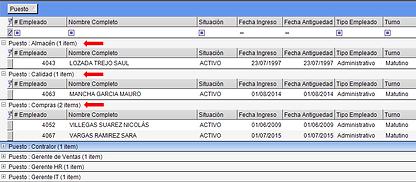 Los datos agrupados en las consultas de GN3 se pueden exportar a excel con el mismo formato en que se muestran en pantalla