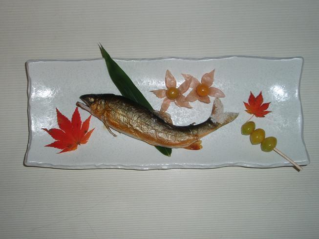 伊南川鮎の塩焼き