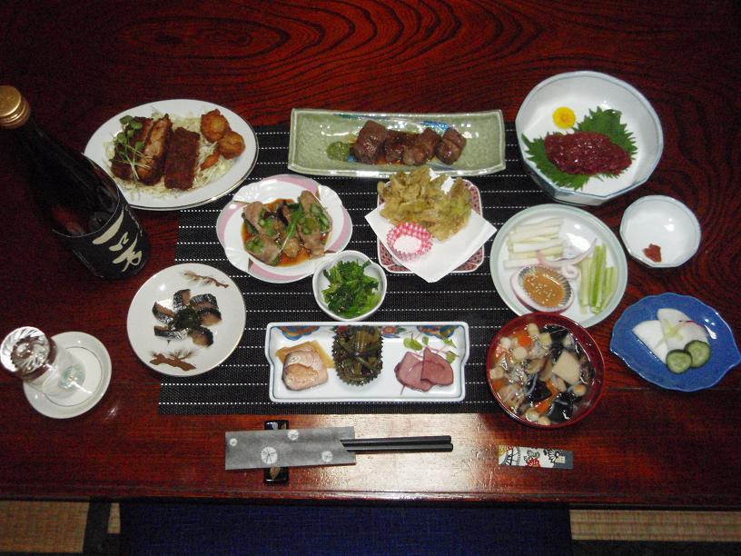 郷土料理プラン食事一例