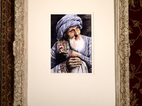 Afghan Man With Rose
