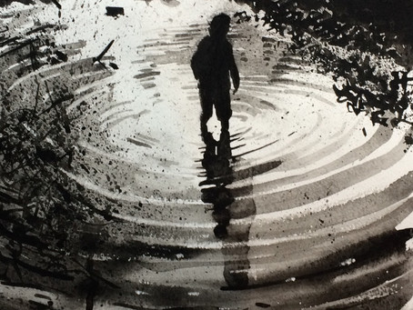 A boy and a puddle; a journey in wellies.