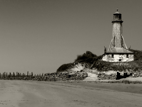 The lighthouse at Crow Point.