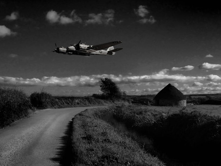 A Bristol Beaufighter over the Marsh.