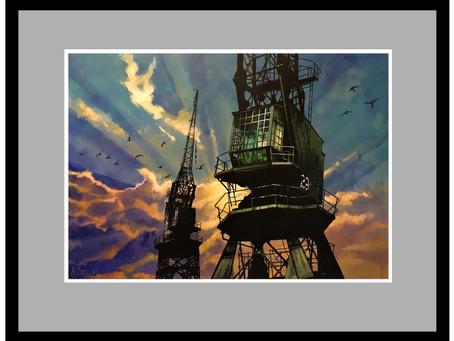 Dockside Cranes Bristol.