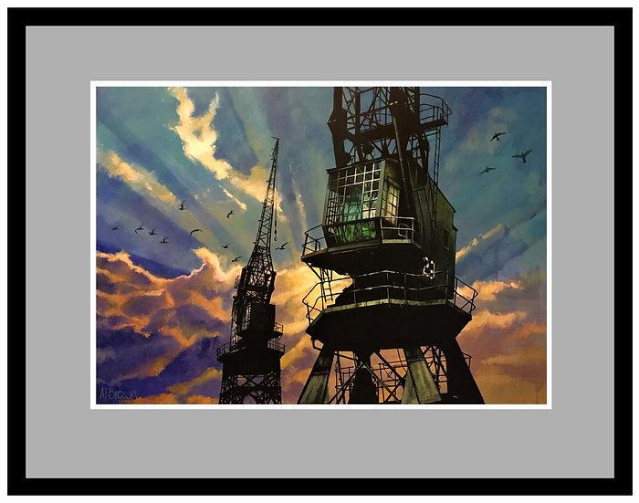 Bristol Dockside Cranes.