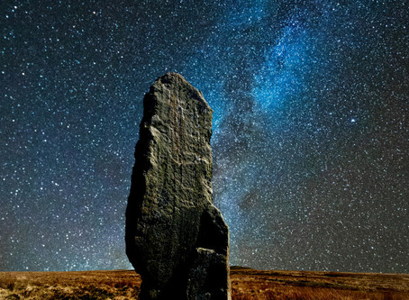 The Challacombe Long Stone.