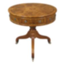 2 Small Drum Table 3 drawer Ebony Buckin