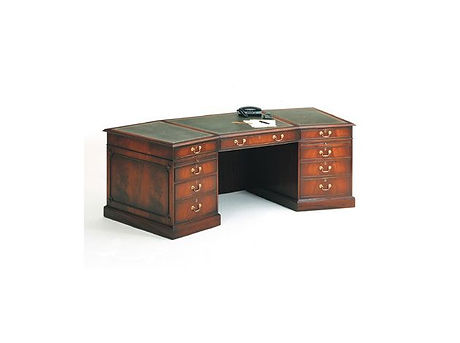 10  Large Angled Pedestal Desk mahogany.