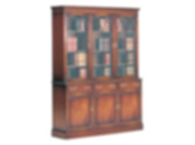 6  Three Door Glazed Bookcase with Drawe