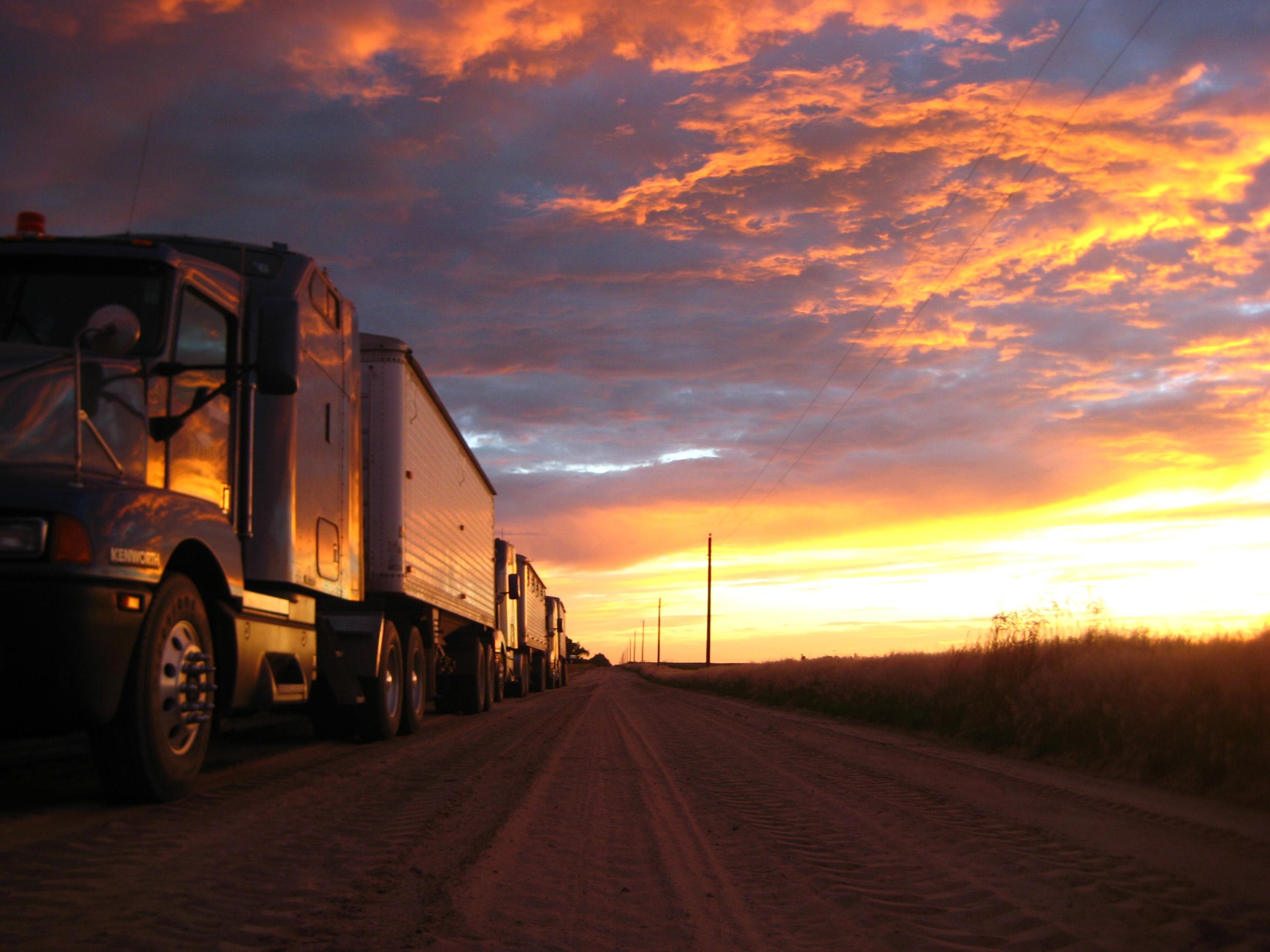 A beautiful sunset in Pratt KS