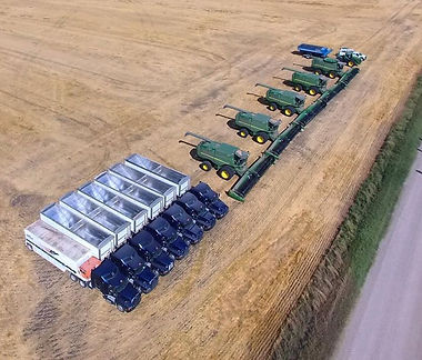 Aerial view of parked equipment