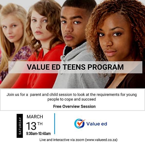 Value ed Teens Program Overview