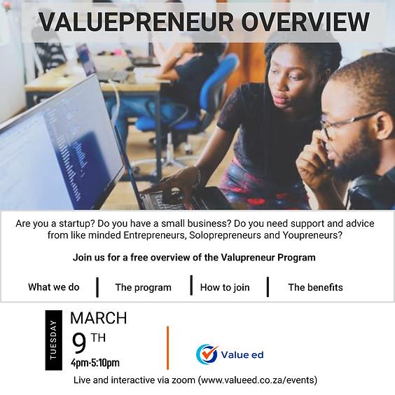 ValuePreneur Overview