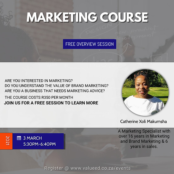 Marketing Course Overview