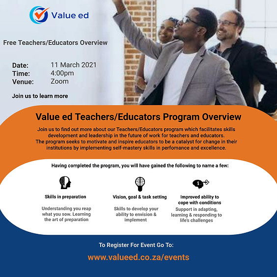 Overview: Teachers/Educator Program