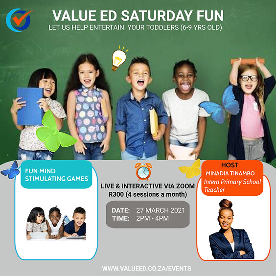 Value Ed  Saturday Fun for Toddlers