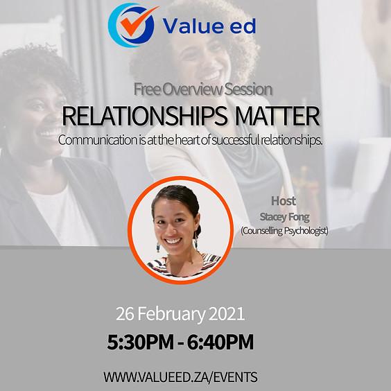 Relationships Matter Overview