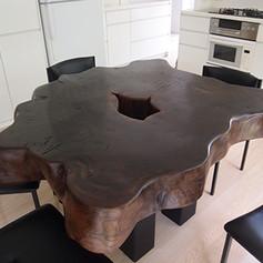 神代欅 輪切りテーブル