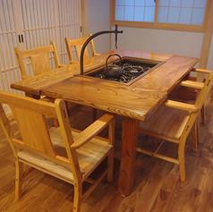 欅 囲炉裏テーブルセット