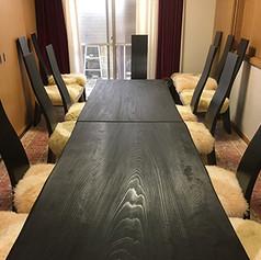 秋田杉 一枚板テーブル 焼黒