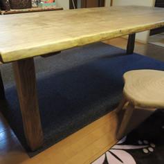 黄肌 ダイニングテーブル 木地