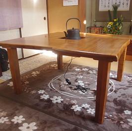 桜囲炉裏テーブル
