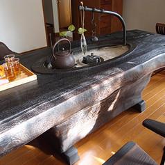 楢 一木囲炉裏テーブル