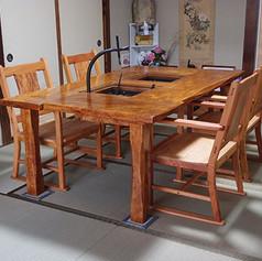 欅 囲炉裏テーブル