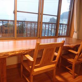 楢カウンターテーブル