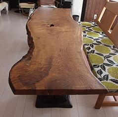秋田楢一枚板テーブル