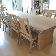 楢 一枚板テーブル