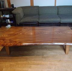 欅 テーブル 木地