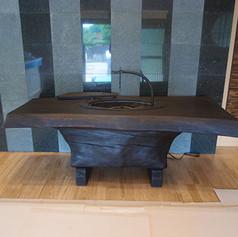 楢一木囲炉裏テーブル
