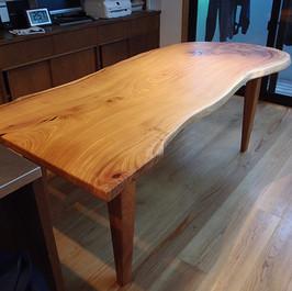 欅 ダイニングテーブル 木地