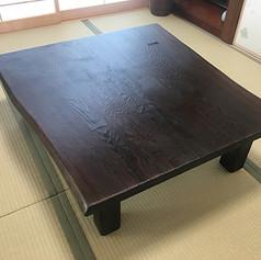 秋田杉 一枚板座卓