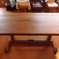 胡桃 機能テーブル 木地