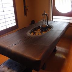秋田杉 一木囲炉裏テーブル