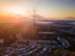 Sutro Tower at Sunset