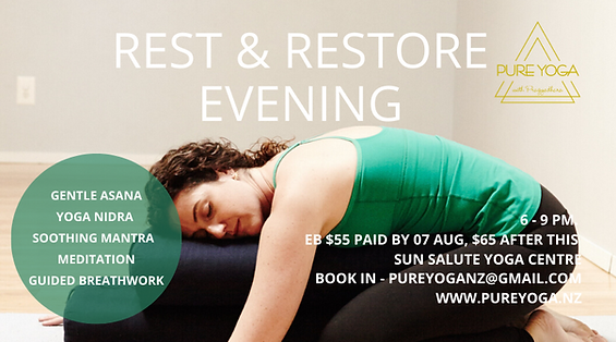 Pure Yoga Restorative Yoga Hamilton 2020