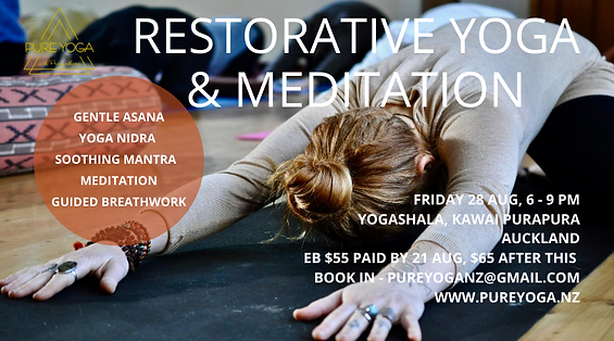 Restorative. Yoga Nidra. De-stress & Relaxation