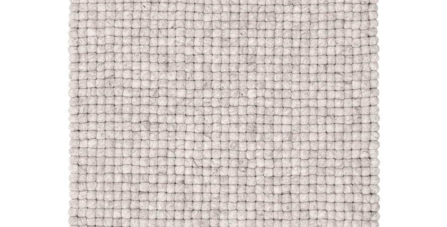 Natural Grey wool rug full view.