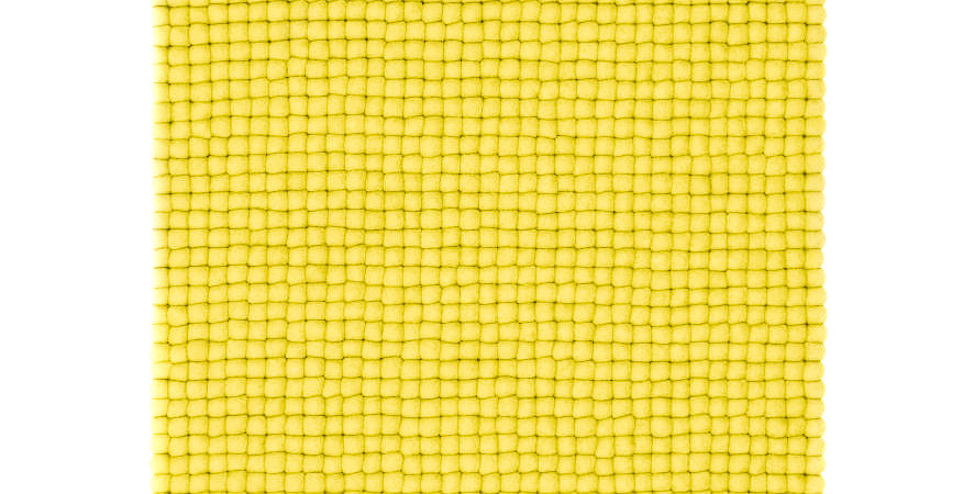 Bright Yellow rug full view.