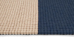 Navy blue and cream coloured rug for living room.